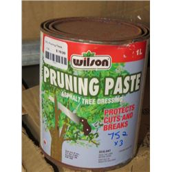3 WILSON PRUNING PASTE ASPHALT TREE DRESSING 1L (3 TIMES BID PRICE)