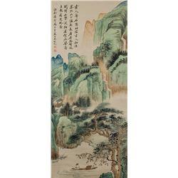 WU HUFAN Chinese 1894-1968 Watercolor Landscape