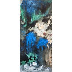 ZHANG DAQIAN Chinese 1899-1983 Watercolor Scroll
