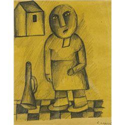 CARLO CARRA Italian 1881-1966 Pencil on Paper