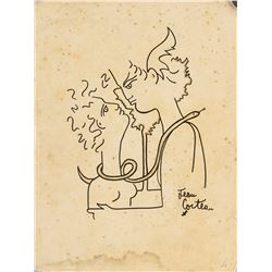 JEAN COCTEAU French 1889-1963 Ink on Paper