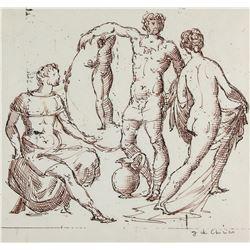 GIORGIO DE CHIRICO Italian 1888-1978 Ink on Paper