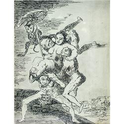 FRANCISCO GOYA Spanish 1746-1828 Ink on Paper
