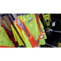 FOUR CONDOR HIGH VISIBILITY SHIRTS AND HIGH VISIBILITY SEATBELT COVERS