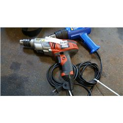 BLACK AND DECKER 6.5 AMP HAMMER DRILL AND HEAT GUN