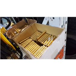 2 BOXES OF BRASS HINGES