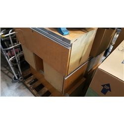 6 3FT X 1FT X 1FT SLIDING DRAWER CUBBIES W/ STAND