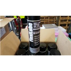 BOX OF 12 NEW AEROSOL CANS OF CABLE AND CHAIN LUBRICANT