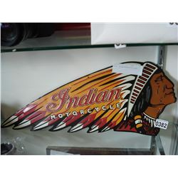 METAL INDIAN MOTORCYCLE SIGN
