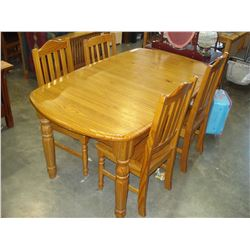 PINE 1 DRAWER DINING TABLE WITH FOUR CHAIRS