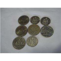 5 CANADIAN DOLLARS AND 3 QUARTERS
