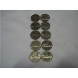 10 SILVER DOLLARS