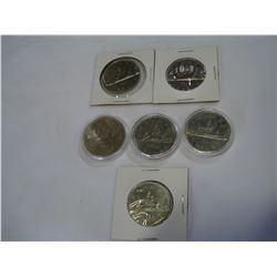6 CANADIAN 1980S DOLLARS