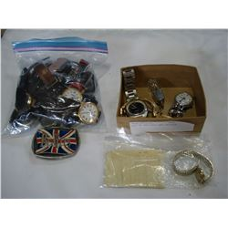 LOT OF WATCHES AND BUCKLE