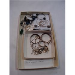 TRAY OF STERLING JEWELRY