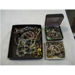 TWO CASES OF STERLING AND OTHER JEWELRY