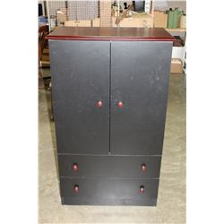 2 DOOR BLACK WARDROBE