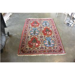 HAND MADE HAND KNOTTED PERSIAN AREA CARPET 75 BY 50 INCH