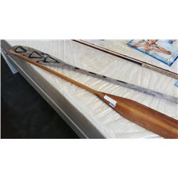 VINTAGE PADDLE AND GREY OWL PADDLE