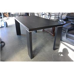 MODERN BLACK FINISH DINING TABLE