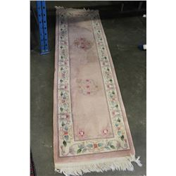 3 MATCHING KNOTTED RUGS