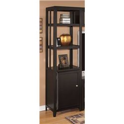 NEW ASHLEY BLACK MODERN PIER UNIT WITH DOOR, RETAIL $489