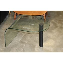 FOLDING END TABLE AND GLASS END TABLE