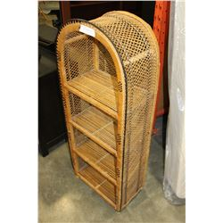 4-TIER WICKER DISPLAY STAND