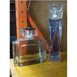 2 LARGE PERFUME DISPLAY BOTTLES, RALPH LAUREN AND HYPNOSE