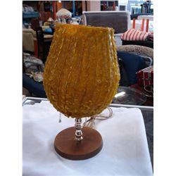 MID CENTURY YELLOW TABLE LAMP