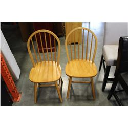 2 HOOPBACK CHAIRS