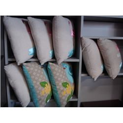LOT OF NEW THROW PILLOWS