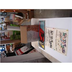 BOX OF COMIC BOOKS AND COLLECTIBLES