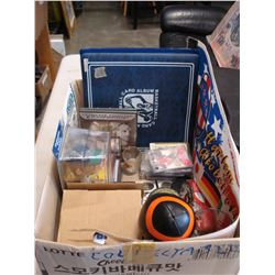 LOT OF SPORTS COLLECTIBLES AND MEMORIBILIA