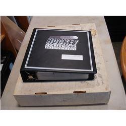 BOX AND BINDER OF HOCKEY CARDS
