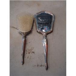 INTERNATIONAL STERLING BRUSH AND VANITY MIRROR