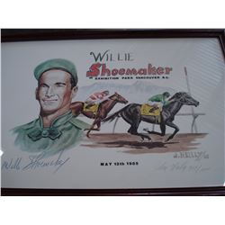 WILLIE SHOEMAKER LIMITED EDITION PRINT 309/1000