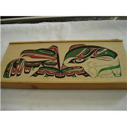 NATIVE WOODEN BOX MADE BY QUENTIN HARRIS 1998