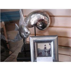 SILVER FISH, SHELL, AND PICTURE