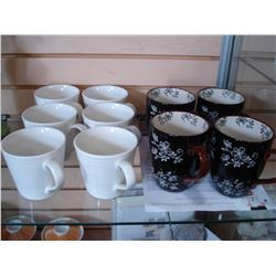 SET OF NEW ROYAL DOULTON COFFEE MUGS AND SET OF 4 NEW TEMPTATION MUGS