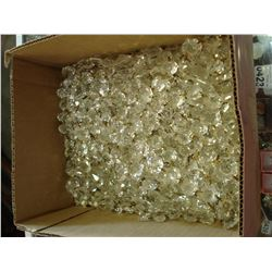 BOX OF CRYSTAL HANGING CHANDELIER PIECES