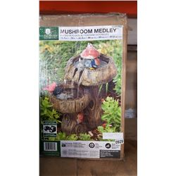 ANGELO DECOR MUSHROOM MEDLEY OUTDOOR FOUNTAIN