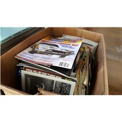 BOX OF AUTOMOTIVE MAGAZINES