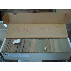 SHOE BOX OF HOCKEY CARDS 72-82 APROX 600 CARDS
