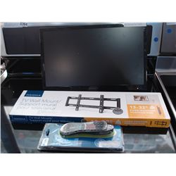 INSIGNIA 19 INCH LED TV WORKING WITH FIXED POSITION WALL MOUNT AND 3 IN 1 REMOTE