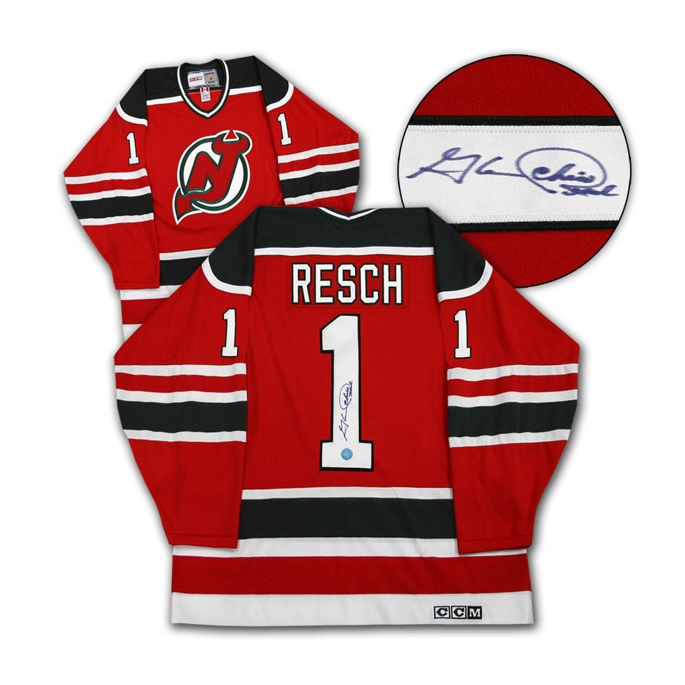 purchase cheap ef925 55432 Chico Resch New Jersey Devils Autographed Retro CCM Hockey Jersey (AJ  SPORTS)