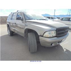 2000 - DODGE DURANGO // REBUILT SALVAGE