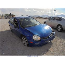 2004 - DODGE NEON // REBUILT SALVAGE