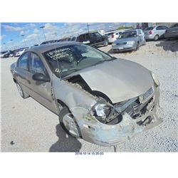 2003 - DODGE NEON // LEGAL RESTRAINT // REBUILT SALVAGE