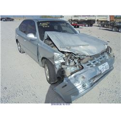 2003 - HYUNDAI ACCENT // REBUILT SALVAGE DAMAGED